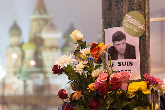 Memorial for Nemtsov. Flickr - Creative Commons