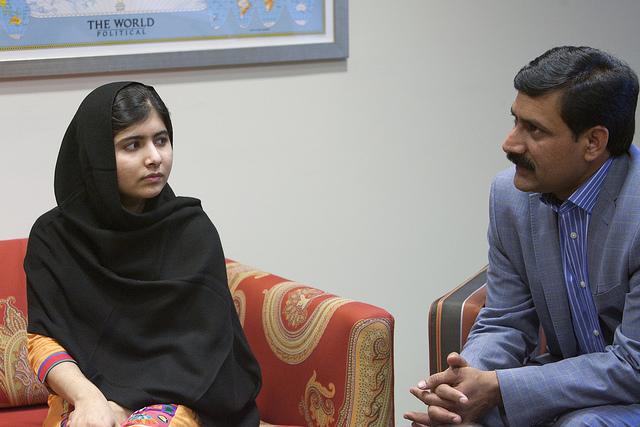 Malala Yousafzai at the world bank